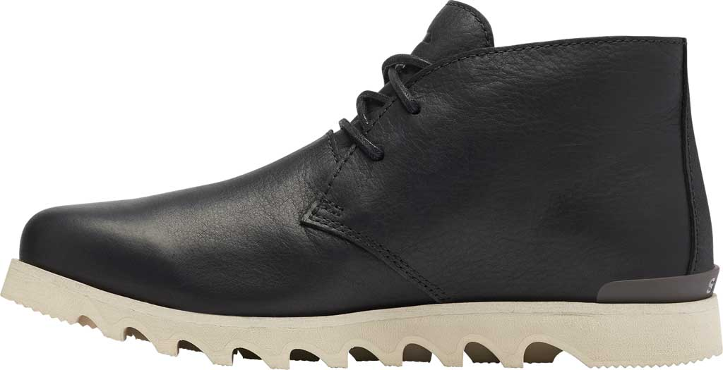 Men's Sorel Kezar Chukka Waterproof Boot, Black Waterproof Full Grain Leather, large, image 3