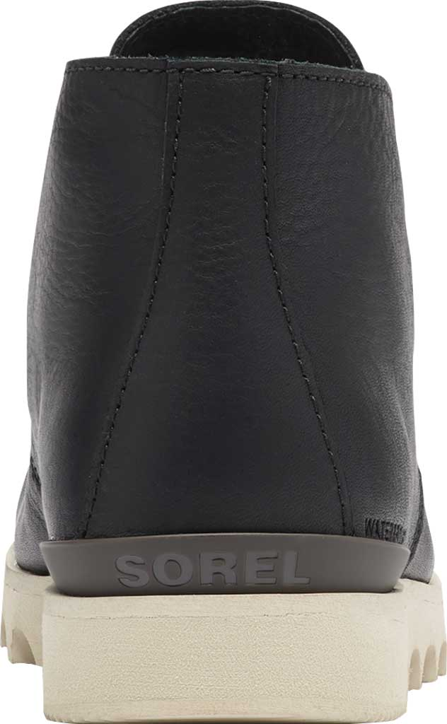 Men's Sorel Kezar Chukka Waterproof Boot, Black Waterproof Full Grain Leather, large, image 4
