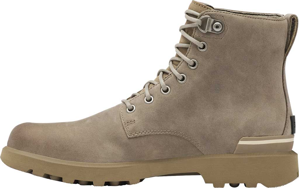 Men's Sorel Caribou Six Waterproof Boot, Khaki II Waterproof Full Grain Leather, large, image 3