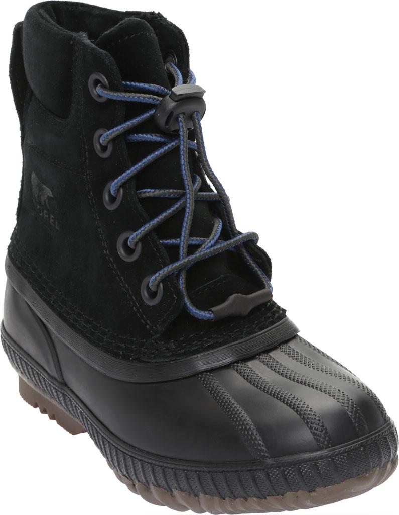 Boys' Sorel Youth Cheyanne II Waterproof Duck Boot, Black Waterproof Suede, large, image 1
