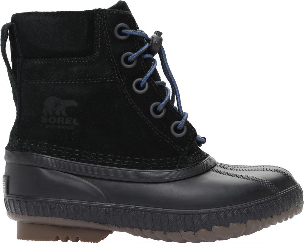 Boys' Sorel Youth Cheyanne II Waterproof Duck Boot, Black Waterproof Suede, large, image 2