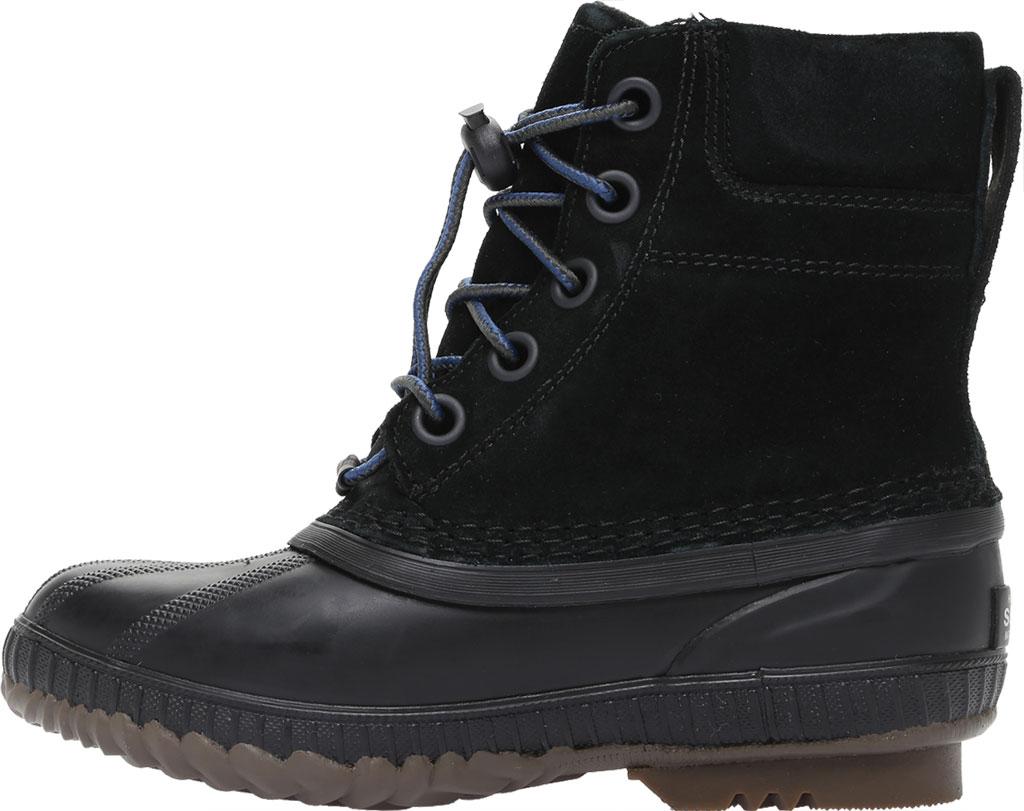 Boys' Sorel Youth Cheyanne II Waterproof Duck Boot, Black Waterproof Suede, large, image 3