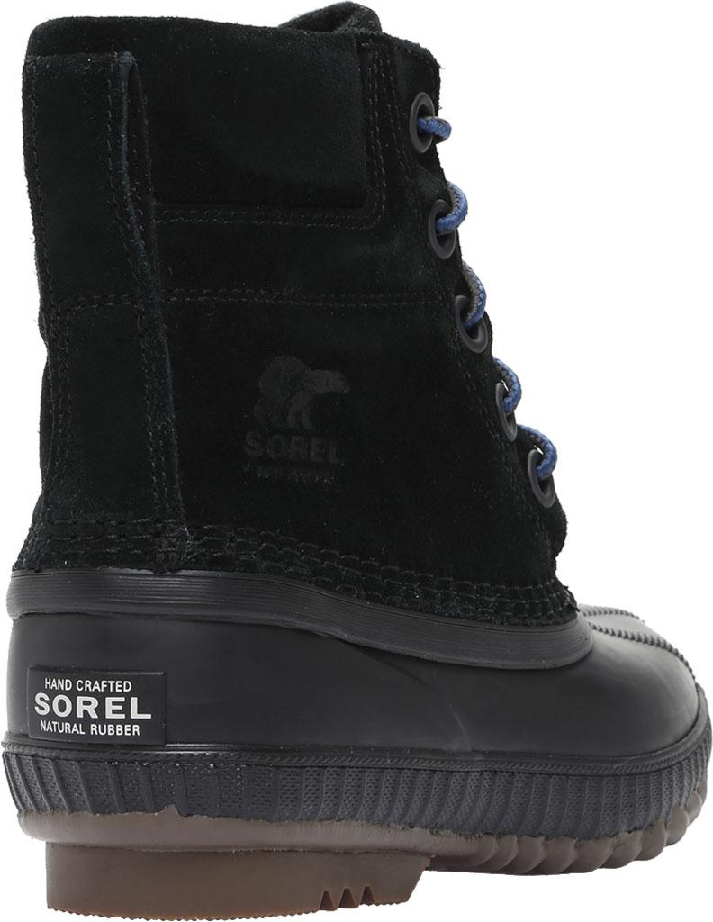 Boys' Sorel Youth Cheyanne II Waterproof Duck Boot, Black Waterproof Suede, large, image 4