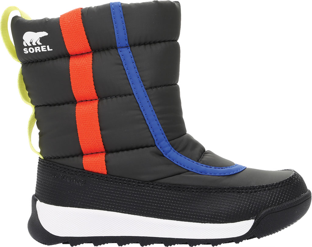 Children's Sorel Whitney II Puffy Mid Waterproof Boot, Coal Waterproof Nylon/Polyurethane, large, image 2