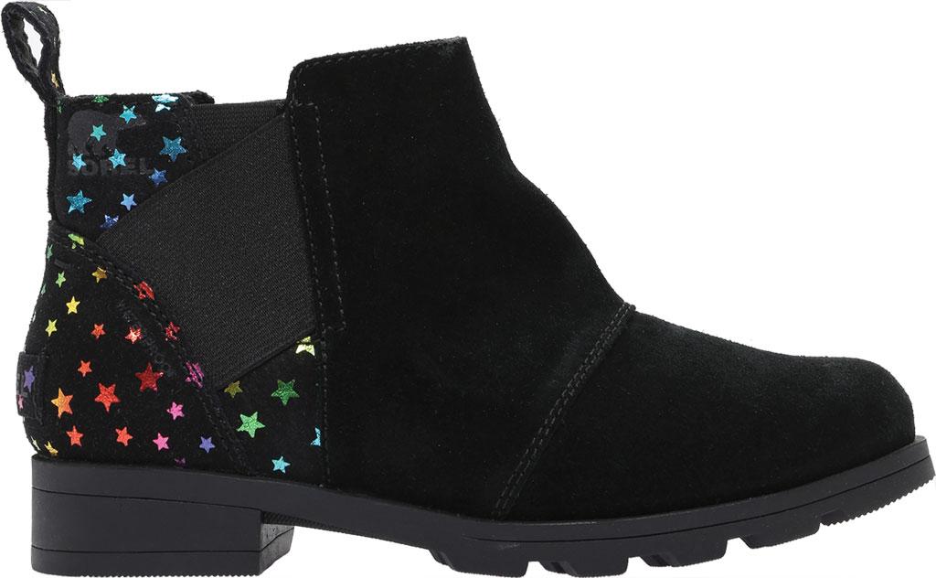 Girls' Sorel Youth Emelie Chelsea Waterproof Boot, Black Waterproof Suede/Felt, large, image 2