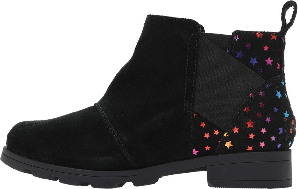 Girls' Sorel Youth Emelie Chelsea Waterproof Boot, Black Waterproof Suede/Felt, large, image 3