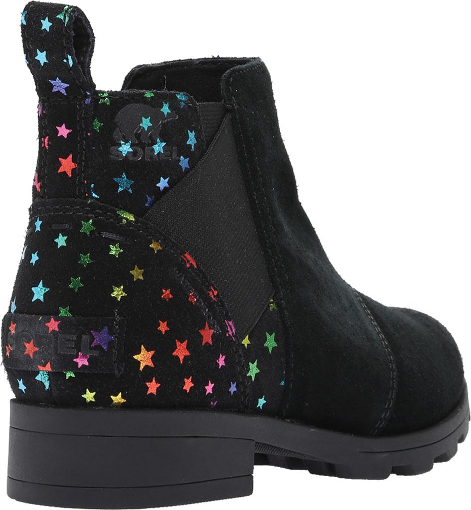 Girls' Sorel Youth Emelie Chelsea Waterproof Boot, Black Waterproof Suede/Felt, large, image 4