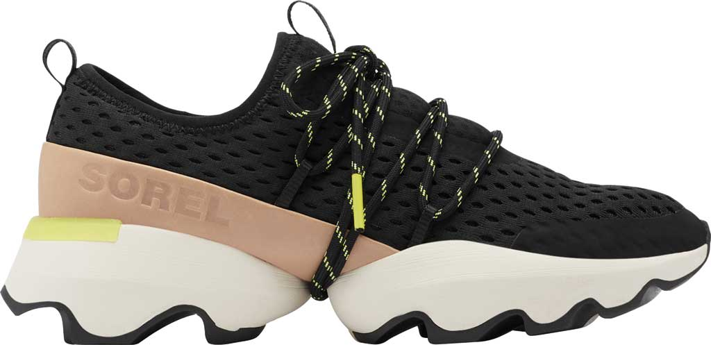 Women's Sorel Kinetic Impact Lace Sneaker, Black Air Mesh, large, image 2