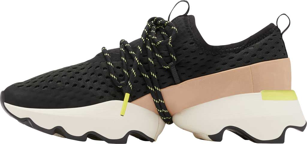 Women's Sorel Kinetic Impact Lace Sneaker, Black Air Mesh, large, image 3