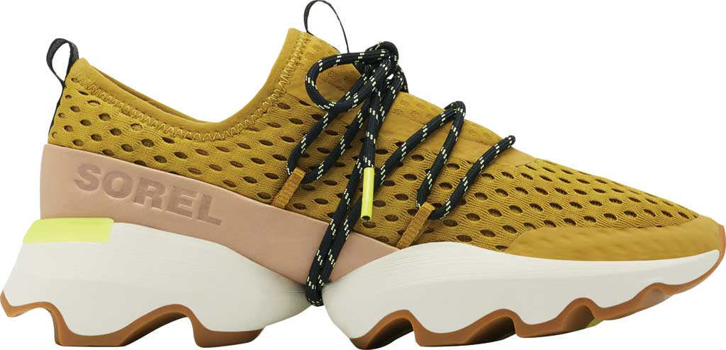 Women's Sorel Kinetic Impact Lace Sneaker, Dioxide Gold Air Mesh, large, image 2