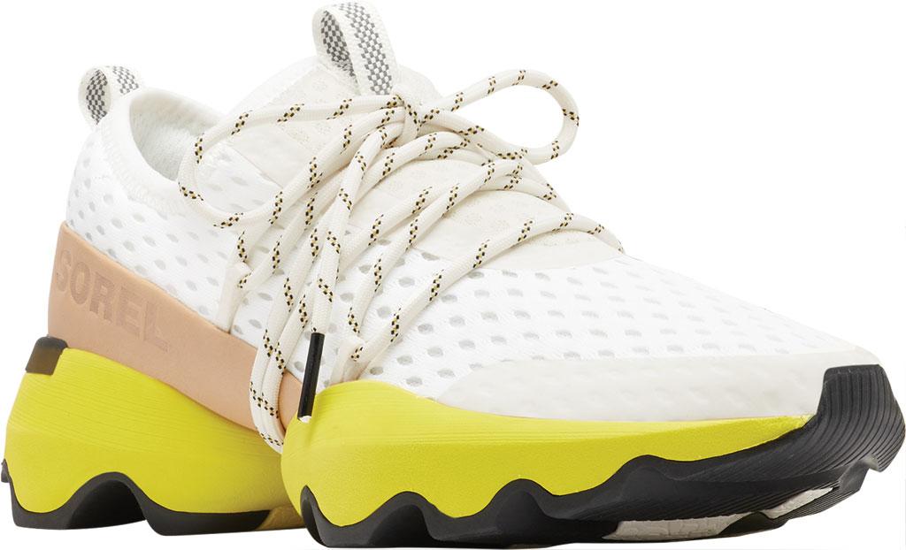 Women's Sorel Kinetic Impact Lace Sneaker, Sea Salt/Yellow Air Mesh, large, image 1