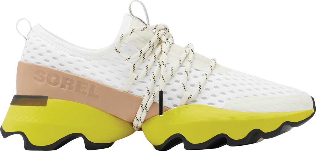 Women's Sorel Kinetic Impact Lace Sneaker, Sea Salt/Yellow Air Mesh, large, image 2