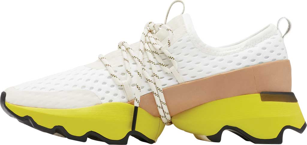 Women's Sorel Kinetic Impact Lace Sneaker, Sea Salt/Yellow Air Mesh, large, image 3
