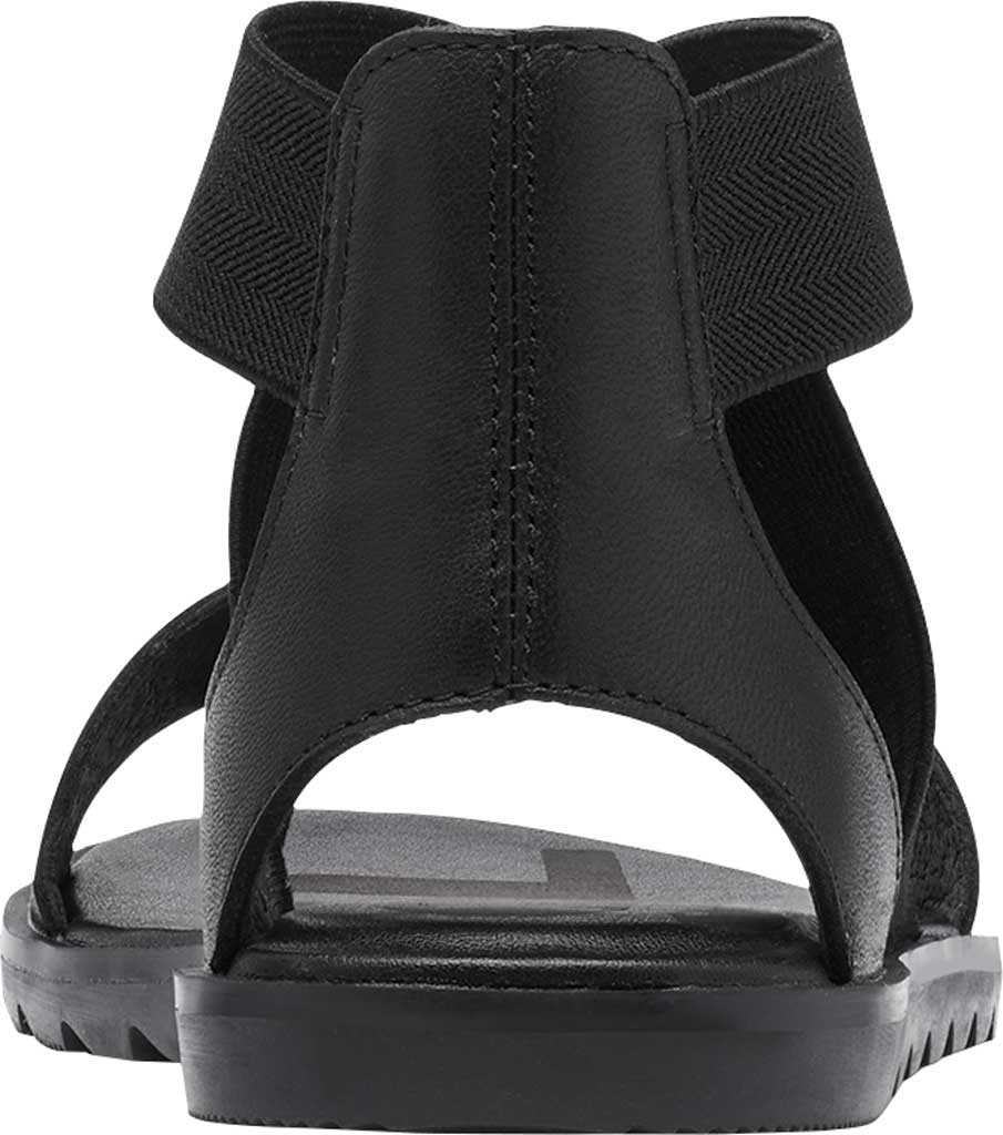 Women's Sorel Ella II Flat Sandal, Black Full Grain Leather, large, image 4
