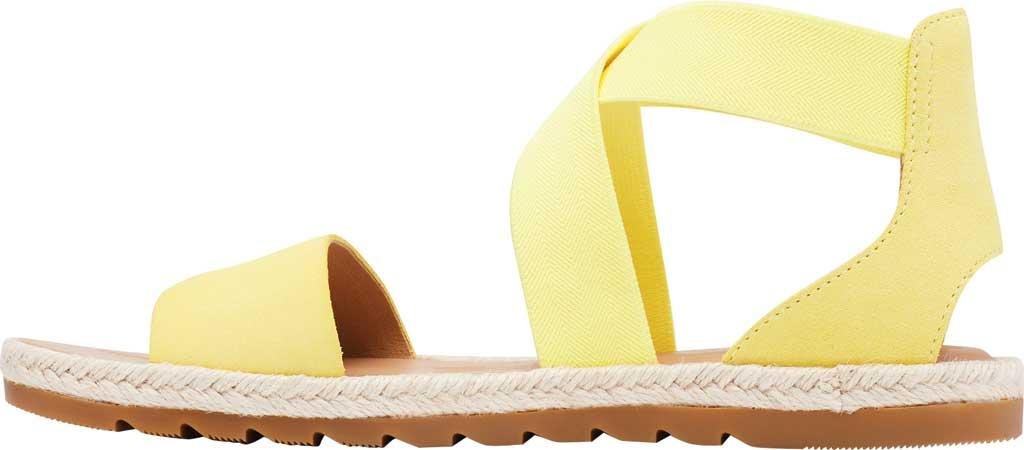 Women's Sorel Ella II Flat Sandal, Sunnyside Suede, large, image 3