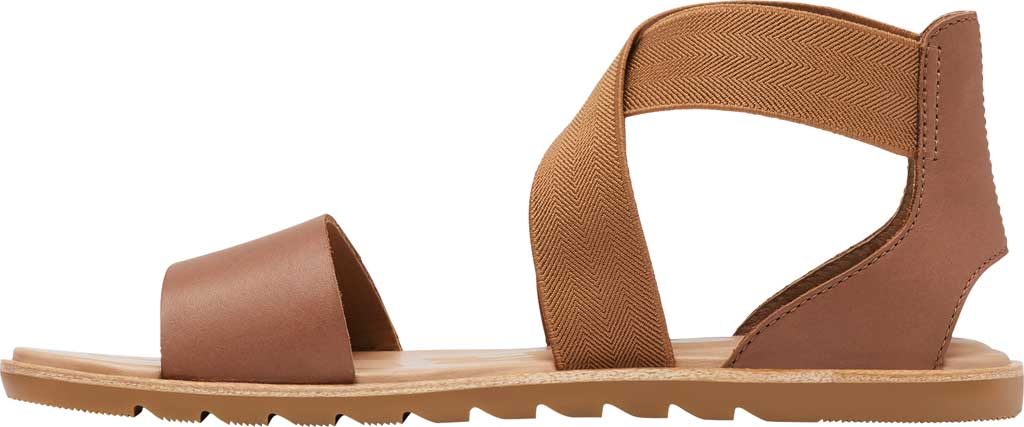 Women's Sorel Ella II Flat Sandal, Velvet Tan Full Grain Leather, large, image 3