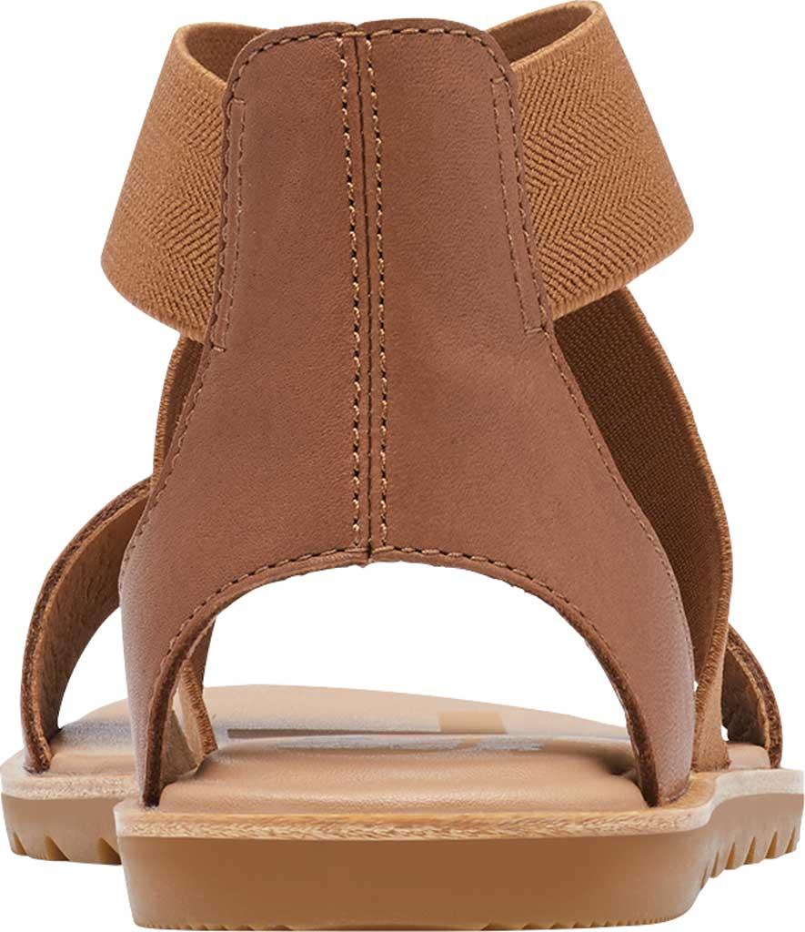 Women's Sorel Ella II Flat Sandal, Velvet Tan Full Grain Leather, large, image 4