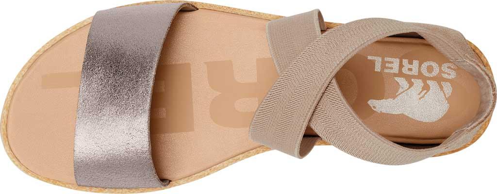 Women's Sorel Ella II Flat Sandal, Ash Brown Full Grain Leather/Suede, large, image 5