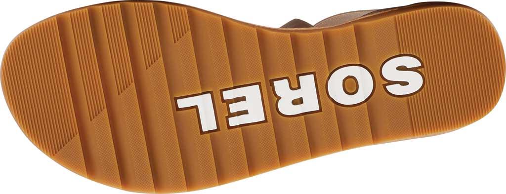 Women's Sorel Ella II Flat Sandal, Ash Brown Full Grain Leather/Suede, large, image 6