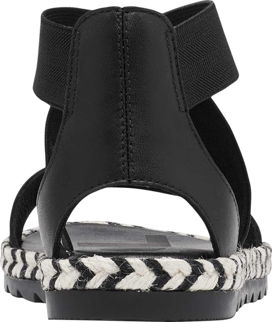Women's Sorel Ella II Flat Sandal, Black Jute Full Grain Leather, large, image 4