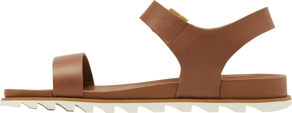 Women's Sorel Roaming Decon Ankle Strap Flat Sandal, Velvet Tan Full Grain Leather, large, image 3