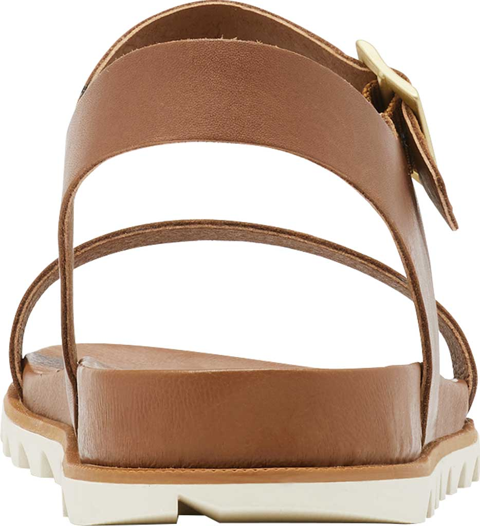 Women's Sorel Roaming Decon Ankle Strap Flat Sandal, Velvet Tan Full Grain Leather, large, image 4
