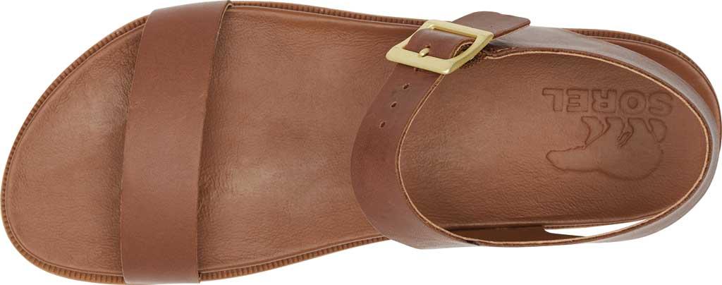 Women's Sorel Roaming Decon Ankle Strap Flat Sandal, Velvet Tan Full Grain Leather, large, image 5