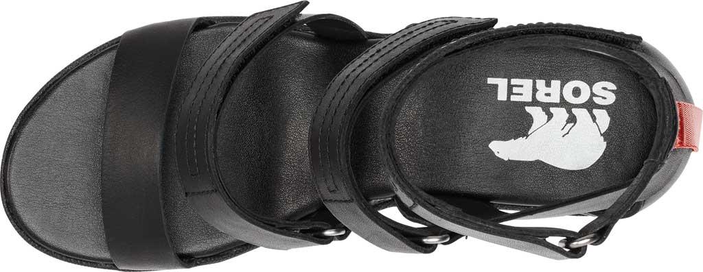 Women's Sorel Cameron Wedge Strappy Sandal, Black Full Grain Leather, large, image 5