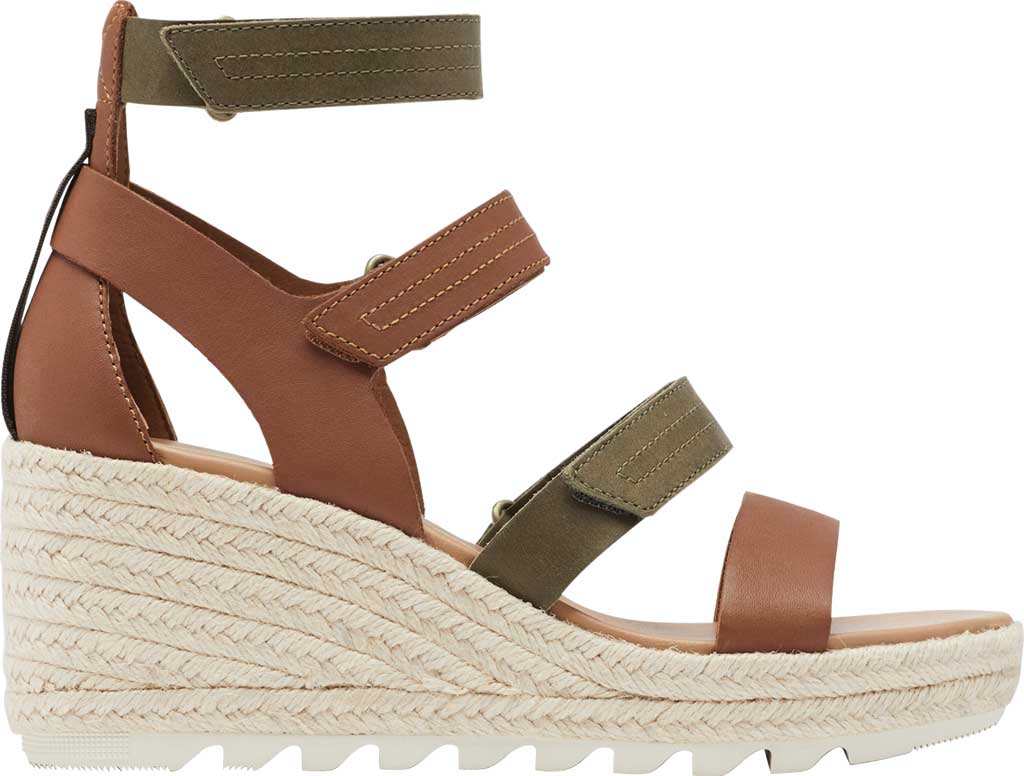 Women's Sorel Cameron Wedge Strappy Sandal, Velvet Tan Full Grain Leather, large, image 2