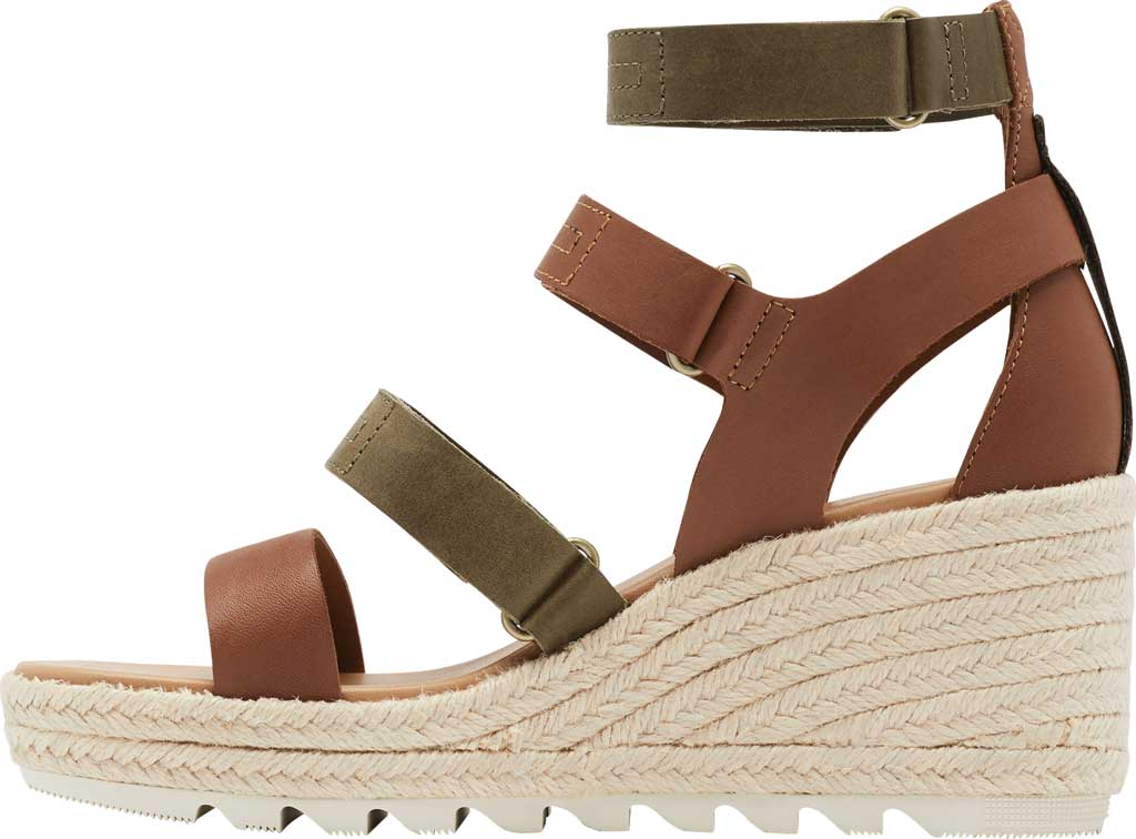 Women's Sorel Cameron Wedge Strappy Sandal, Velvet Tan Full Grain Leather, large, image 3