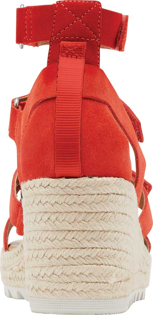 Women's Sorel Cameron Wedge Strappy Sandal, Signal Red Suede, large, image 4