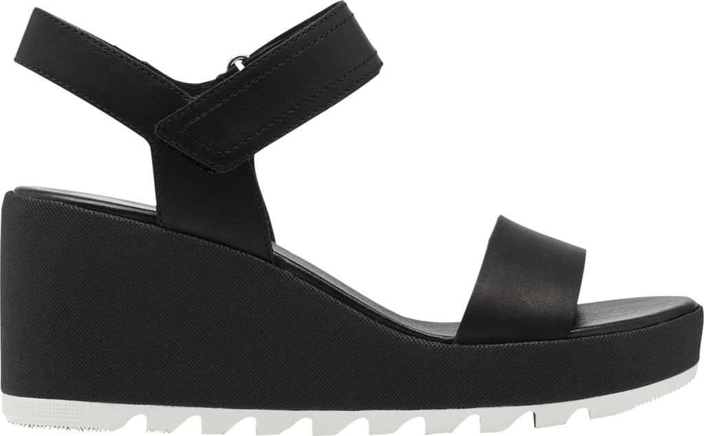 Women's Sorel Cameron Wedge Ankle Strap Sandal, Black Full Grain Leather, large, image 2