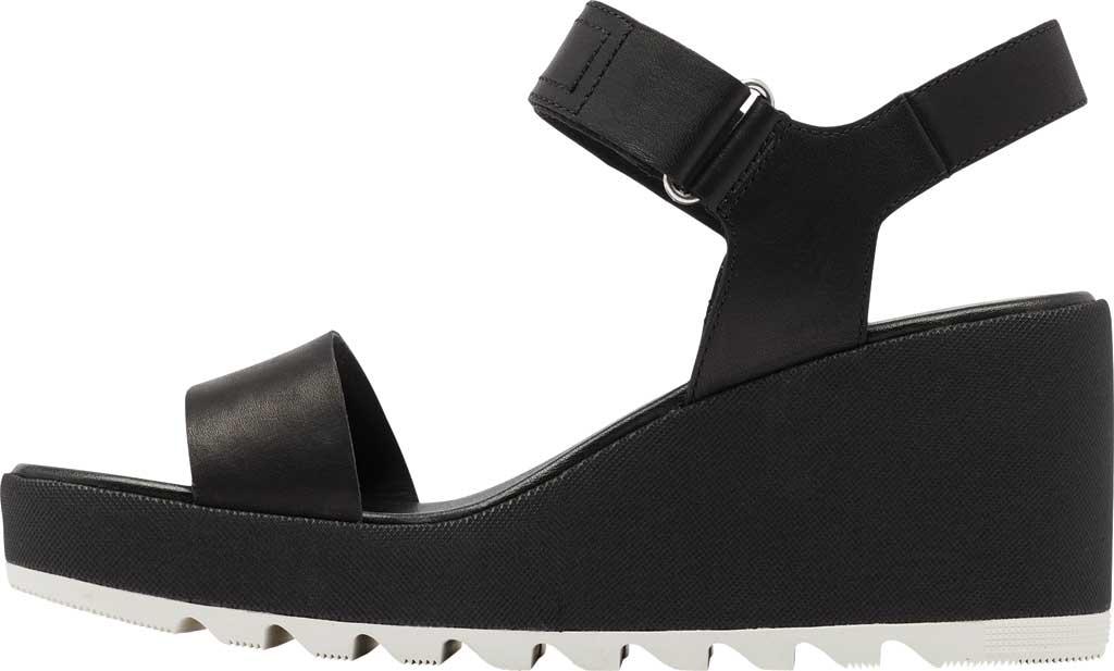 Women's Sorel Cameron Wedge Ankle Strap Sandal, Black Full Grain Leather, large, image 3