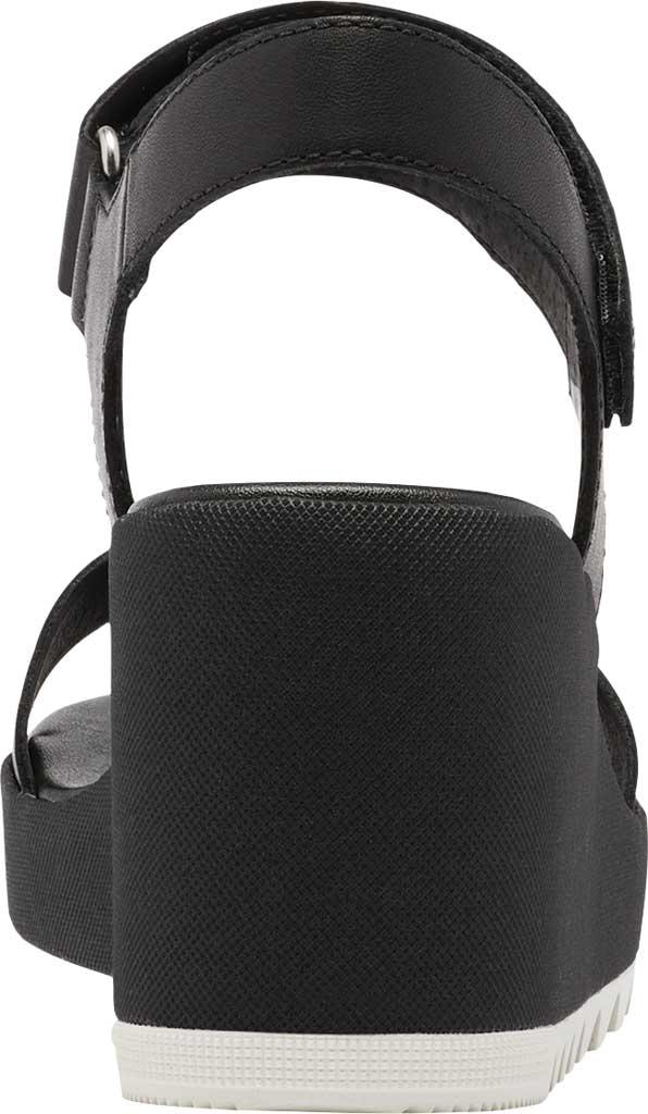 Women's Sorel Cameron Wedge Ankle Strap Sandal, Black Full Grain Leather, large, image 4