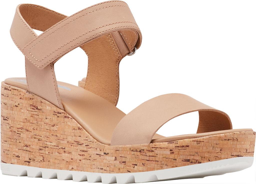 Women's Sorel Cameron Wedge Ankle Strap Sandal, Honest Beige Full Grain Leather, large, image 1