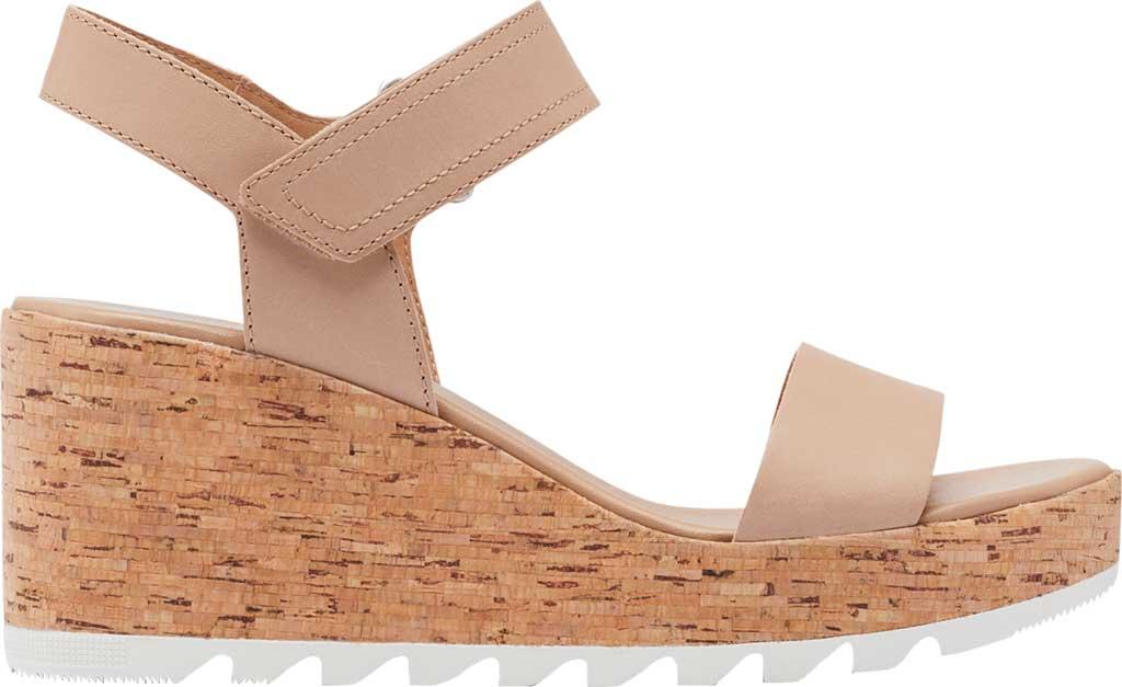 Women's Sorel Cameron Wedge Ankle Strap Sandal, Honest Beige Full Grain Leather, large, image 2