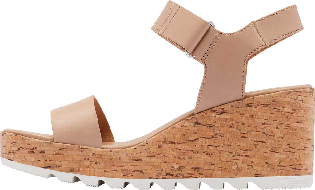 Women's Sorel Cameron Wedge Ankle Strap Sandal, Honest Beige Full Grain Leather, large, image 3