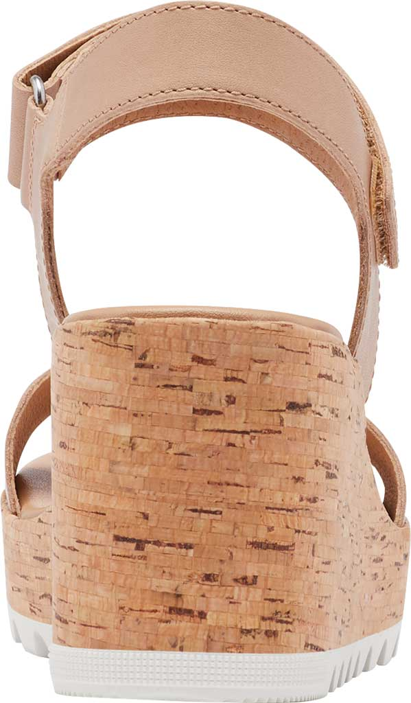 Women's Sorel Cameron Wedge Ankle Strap Sandal, Honest Beige Full Grain Leather, large, image 4