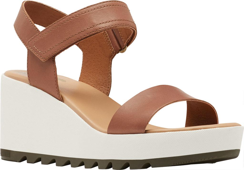 Women's Sorel Cameron Wedge Ankle Strap Sandal, Velvet Tan Full Grain Leather, large, image 1