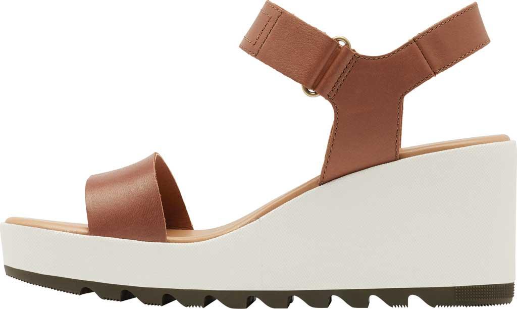 Women's Sorel Cameron Wedge Ankle Strap Sandal, Velvet Tan Full Grain Leather, large, image 3