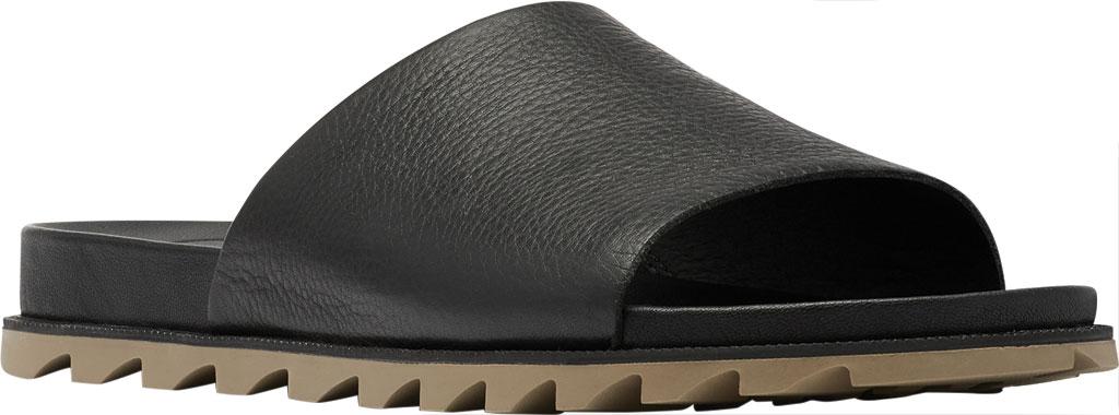 Women's Sorel Roaming Decon Slide, Black Full Grain Leather, large, image 1