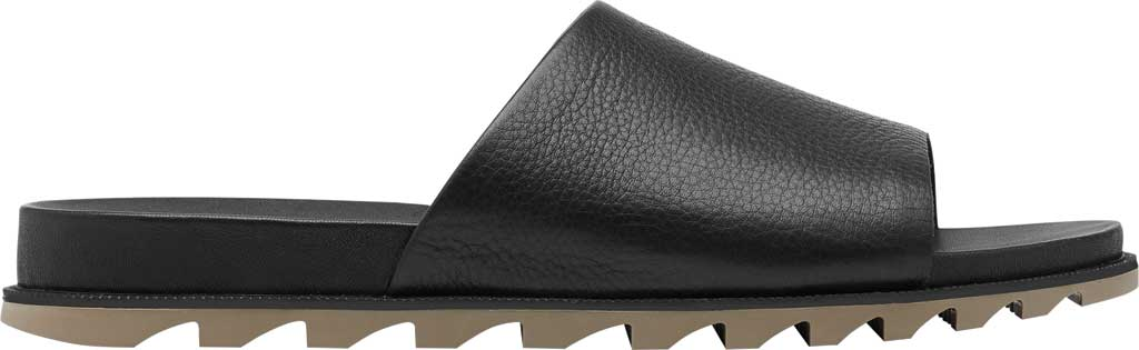 Women's Sorel Roaming Decon Slide, Black Full Grain Leather, large, image 2
