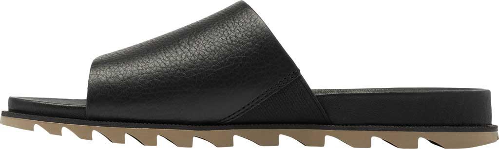 Women's Sorel Roaming Decon Slide, Black Full Grain Leather, large, image 3
