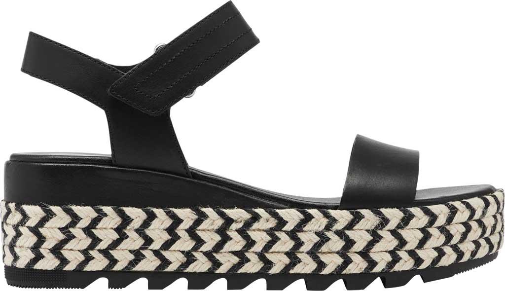 Women's Sorel Cameron Flatform Ankle Strap Sandal, Black Full Grain Leather, large, image 2