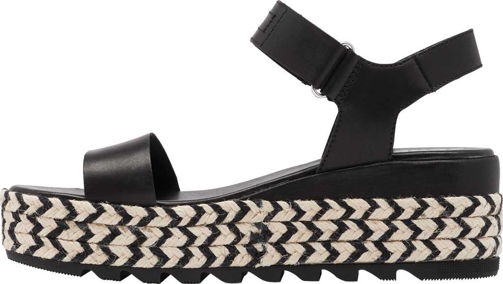 Women's Sorel Cameron Flatform Ankle Strap Sandal, Black Full Grain Leather, large, image 3