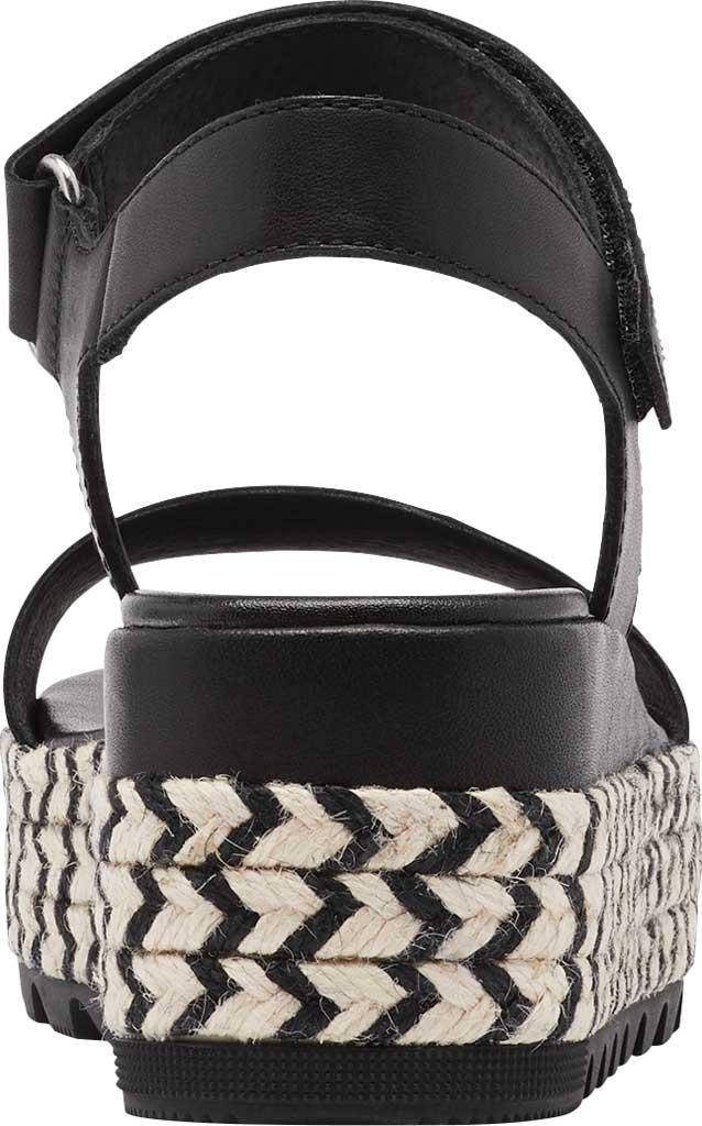 Women's Sorel Cameron Flatform Ankle Strap Sandal, Black Full Grain Leather, large, image 4