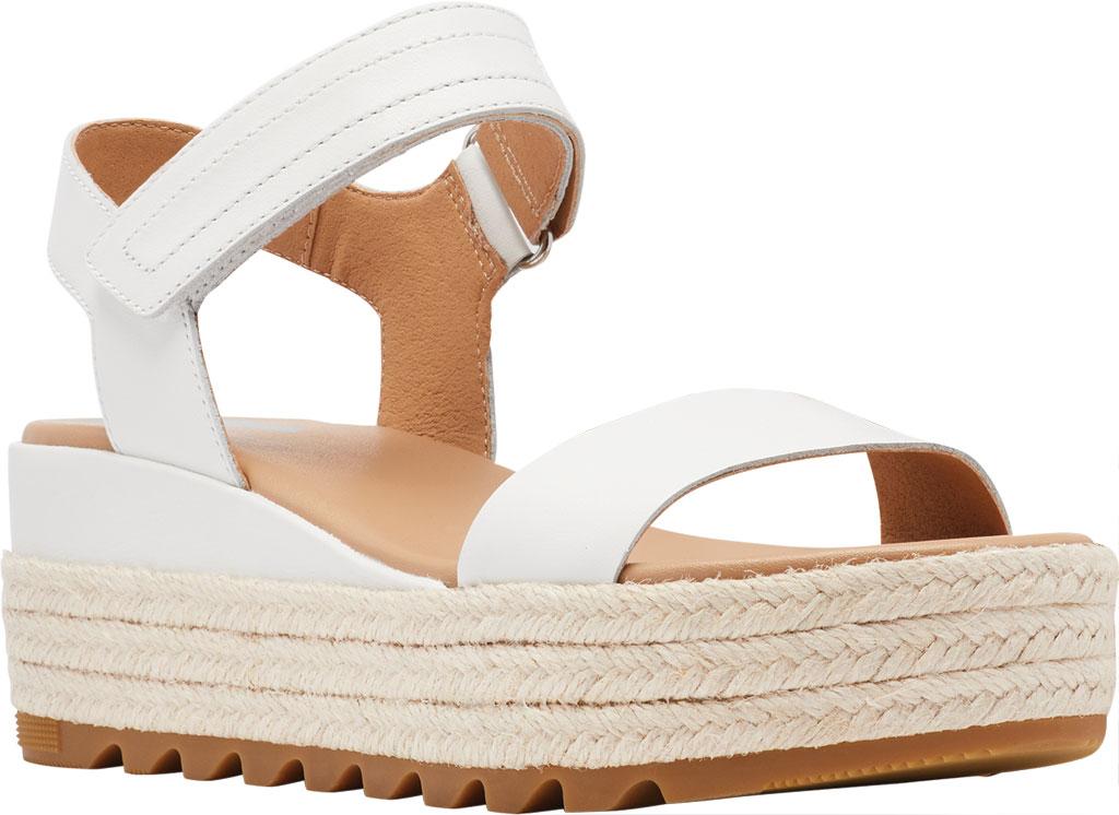 Women's Sorel Cameron Flatform Ankle Strap Sandal, Sea Salt Full Grain Leather, large, image 1