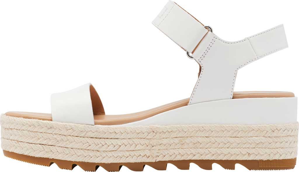 Women's Sorel Cameron Flatform Ankle Strap Sandal, Sea Salt Full Grain Leather, large, image 3
