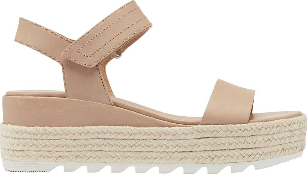 Women's Sorel Cameron Flatform Ankle Strap Sandal, Honest Beige Full Grain Leather, large, image 2