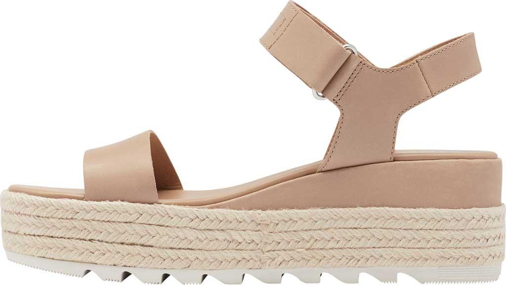 Women's Sorel Cameron Flatform Ankle Strap Sandal, Honest Beige Full Grain Leather, large, image 3